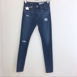 AG Farrah High Rise Skinny Jeans Distressed 24 NWT
